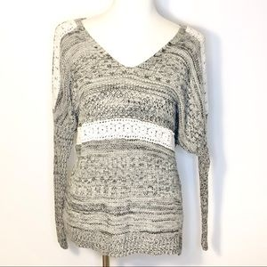 Anthropologie Paper Crane Knitted Sweater Size S